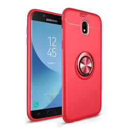 Auto Focus Invisible Ring Holder Soft Phone Case for Samsung Galaxy J7 2017 J730 Eurasian - Red