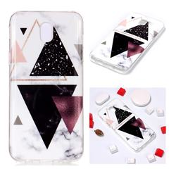 Four Triangular Soft TPU Marble Pattern Phone Case for Samsung Galaxy J7 2017 J730 Eurasian