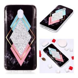 Black Diamond Soft TPU Marble Pattern Phone Case for Samsung Galaxy J7 2017 J730 Eurasian