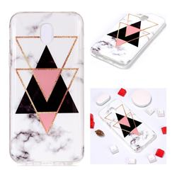 Inverted Triangle Black Soft TPU Marble Pattern Phone Case for Samsung Galaxy J7 2017 J730 Eurasian