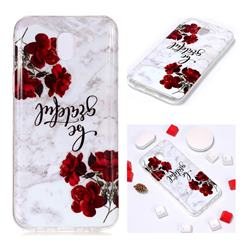 Rose Soft TPU Marble Pattern Phone Case for Samsung Galaxy J7 2017 J730 Eurasian