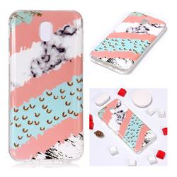 Diagonal Grass Soft TPU Marble Pattern Phone Case for Samsung Galaxy J7 2017 J730 Eurasian