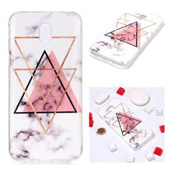 Inverted Triangle Powder Soft TPU Marble Pattern Phone Case for Samsung Galaxy J7 2017 J730 Eurasian