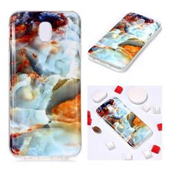 Fire Cloud Soft TPU Marble Pattern Phone Case for Samsung Galaxy J7 2017 J730 Eurasian