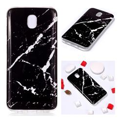 Black Rough white Soft TPU Marble Pattern Phone Case for Samsung Galaxy J7 2017 J730 Eurasian