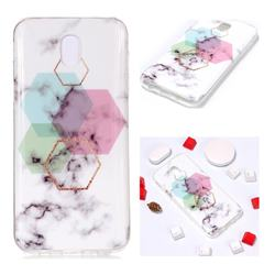 Hexagonal Soft TPU Marble Pattern Phone Case for Samsung Galaxy J7 2017 J730 Eurasian