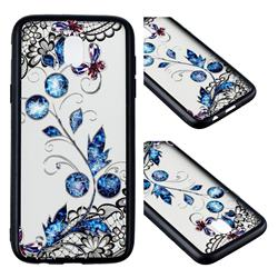 Butterfly Lace Diamond Flower Soft TPU Back Cover for Samsung Galaxy J7 2017 J730 Eurasian