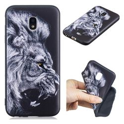 Lion 3D Embossed Relief Black TPU Cell Phone Back Cover for Samsung Galaxy J7 2017 J730 Eurasian