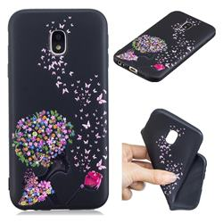 Corolla Girl 3D Embossed Relief Black TPU Cell Phone Back Cover for Samsung Galaxy J7 2017 J730 Eurasian