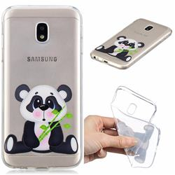 Bamboo Panda Clear Varnish Soft Phone Back Cover for Samsung Galaxy J7 2017 J730 Eurasian