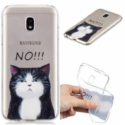 Cat Say No Clear Varnish Soft Phone Back Cover for Samsung Galaxy J7 2017 J730 Eurasian