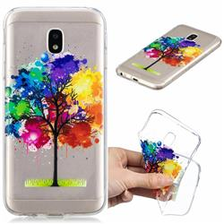Oil Painting Tree Clear Varnish Soft Phone Back Cover for Samsung Galaxy J7 2017 J730 Eurasian