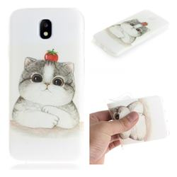 Cute Tomato Cat IMD Soft TPU Cell Phone Back Cover for Samsung Galaxy J7 2017 J730 Eurasian