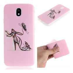 Butterfly High Heels IMD Soft TPU Cell Phone Back Cover for Samsung Galaxy J7 2017 J730 Eurasian
