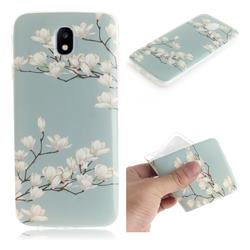Magnolia Flower IMD Soft TPU Cell Phone Back Cover for Samsung Galaxy J7 2017 J730 Eurasian