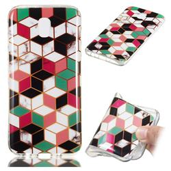 Three-dimensional Square Soft TPU Marble Pattern Phone Case for Samsung Galaxy J7 2017 J730 Eurasian