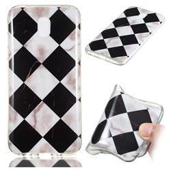 Black and White Matching Soft TPU Marble Pattern Phone Case for Samsung Galaxy J7 2017 J730 Eurasian