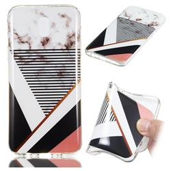 Pinstripe Soft TPU Marble Pattern Phone Case for Samsung Galaxy J7 2017 J730 Eurasian