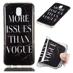 Stylish Black Soft TPU Marble Pattern Phone Case for Samsung Galaxy J7 2017 J730 Eurasian