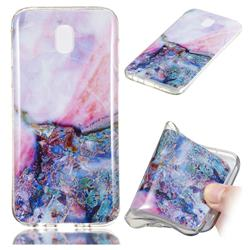 Purple Amber Soft TPU Marble Pattern Phone Case for Samsung Galaxy J7 2017 J730 Eurasian