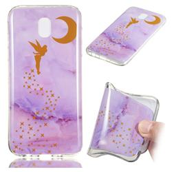 Elf Purple Soft TPU Marble Pattern Phone Case for Samsung Galaxy J7 2017 J730 Eurasian