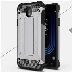 King Kong Armor Premium Shockproof Dual Layer Rugged Hard Cover for Samsung Galaxy J7 2017 J730 Eurasian - Silver Grey