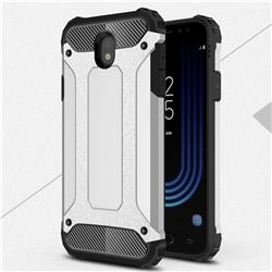 King Kong Armor Premium Shockproof Dual Layer Rugged Hard Cover for Samsung Galaxy J7 2017 J730 Eurasian - Technology Silver