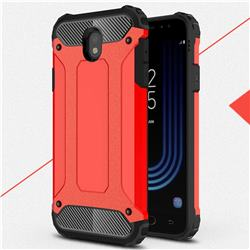 King Kong Armor Premium Shockproof Dual Layer Rugged Hard Cover for Samsung Galaxy J7 2017 J730 Eurasian - Big Red