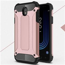 King Kong Armor Premium Shockproof Dual Layer Rugged Hard Cover for Samsung Galaxy J7 2017 J730 Eurasian - Rose Gold