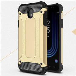King Kong Armor Premium Shockproof Dual Layer Rugged Hard Cover for Samsung Galaxy J7 2017 J730 Eurasian - Champagne Gold