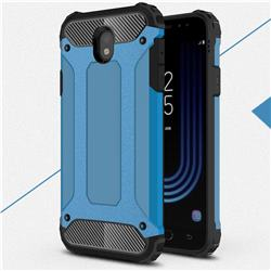 King Kong Armor Premium Shockproof Dual Layer Rugged Hard Cover for Samsung Galaxy J7 2017 J730 Eurasian - Sky Blue