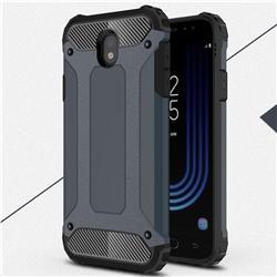 King Kong Armor Premium Shockproof Dual Layer Rugged Hard Cover for Samsung Galaxy J7 2017 J730 Eurasian - Navy