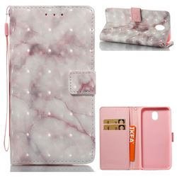 Beige Marble 3D Painted Leather Wallet Case for Samsung Galaxy J7 2017 J730