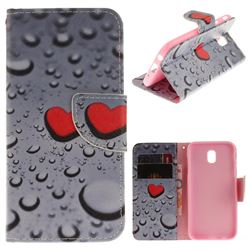 Heart Raindrop PU Leather Wallet Case for Samsung Galaxy J7 2017 J730 Eurasian