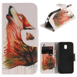 Color Wolf PU Leather Wallet Case for Samsung Galaxy J7 2017 J730 Eurasian