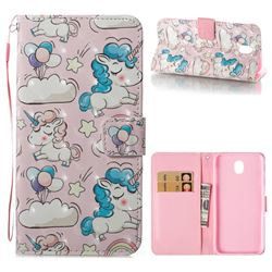 Angel Pony 3D Painted Leather Wallet Case for Samsung Galaxy J7 2017 J730 Eurasian