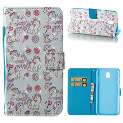 Playing Pony 3D Painted Leather Wallet Case for Samsung Galaxy J7 2017 J730 Eurasian