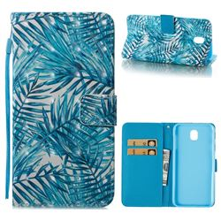 Banana Leaves 3D Painted Leather Wallet Case for Samsung Galaxy J7 2017 J730 Eurasian