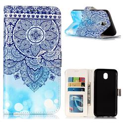 Totem Flower 3D Relief Oil PU Leather Wallet Case for Samsung Galaxy J7 2017 J730 Eurasian