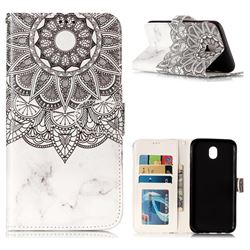 Marble Mandala 3D Relief Oil PU Leather Wallet Case for Samsung Galaxy J7 2017 J730 Eurasian