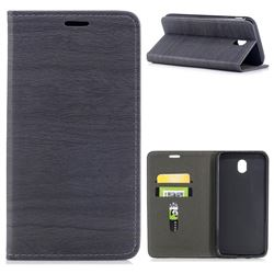 Tree Bark Pattern Automatic suction Leather Wallet Case for Samsung Galaxy J7 2017 J730 Eurasian - Gray