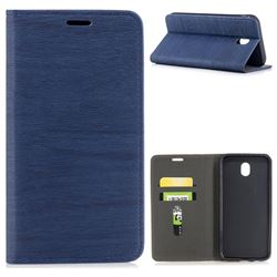 Tree Bark Pattern Automatic suction Leather Wallet Case for Samsung Galaxy J7 2017 J730 Eurasian - Blue