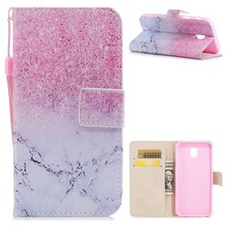 Marble Powder PU Leather Wallet Case for Samsung Galaxy J7 2017 J730 Eurasian