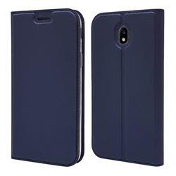 Ultra Slim Card Magnetic Automatic Suction Leather Wallet Case for Samsung Galaxy J7 2017 J730 Eurasian - Royal Blue