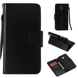 Retro Phantom Smooth PU Leather Wallet Holster Case for Samsung Galaxy J7 2017 J730 Eurasian - Black
