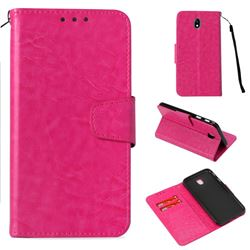 Retro Phantom Smooth PU Leather Wallet Holster Case for Samsung Galaxy J7 2017 J730 Eurasian - Rose