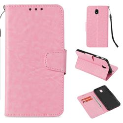 Retro Phantom Smooth PU Leather Wallet Holster Case for Samsung Galaxy J7 2017 J730 Eurasian - Pink