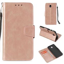 Retro Phantom Smooth PU Leather Wallet Holster Case for Samsung Galaxy J7 2017 J730 Eurasian - Rose Gold