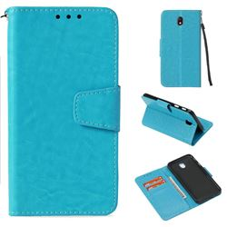 Retro Phantom Smooth PU Leather Wallet Holster Case for Samsung Galaxy J7 2017 J730 Eurasian - Sky Blue