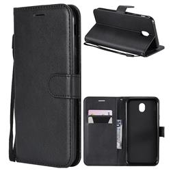 Retro Greek Classic Smooth PU Leather Wallet Phone Case for Samsung Galaxy J7 2017 J730 Eurasian - Black